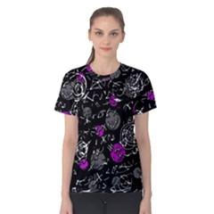 Purple Mind Women s Cotton Tee by Valentinaart