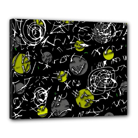 Yellow Mind Canvas 20  X 16  by Valentinaart