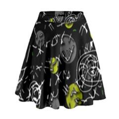 Yellow Mind High Waist Skirt by Valentinaart