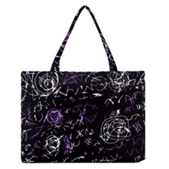Abstract Mind   Purple Medium Zipper Tote Bag by Valentinaart