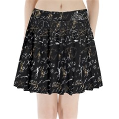 Abstract mind - brown Pleated Mini Skirt by Valentinaart