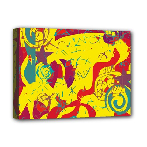 Yellow Confusion Deluxe Canvas 16  X 12   by Valentinaart