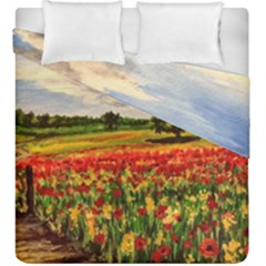 Poppies Duvet Cover Double Side (King Size) by ArtByThree