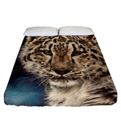 Snow Leopard Fitted Sheet (Queen Size)