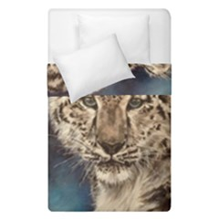 Snow Leopard Duvet Cover Double Side (single Size)