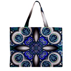Fractal Cathedral Pattern Mosaic Zipper Mini Tote Bag