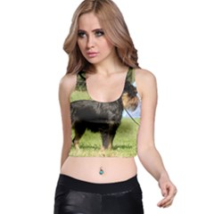 Brussels Griffon Full  Racer Back Crop Top by TailWags