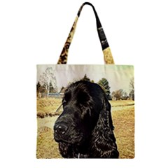 Black English Cocker Spaniel  Zipper Grocery Tote Bag by TailWags