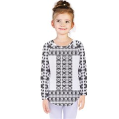 Pattern Background Texture Black Kids  Long Sleeve Tee