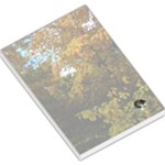 Vermont Tree in Autumn with Kitty Large Memo Pad