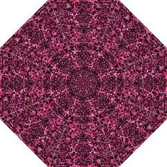 Damask2 Black Marble & Pink Marble (r) Golf Umbrella by trendistuff