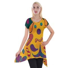 Candy Man 2 Short Sleeve Side Drop Tunic by Valentinaart