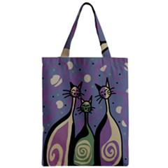 Cats Zipper Classic Tote Bag by Valentinaart