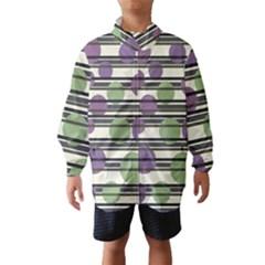Purple and green elegant pattern Wind Breaker (Kids)