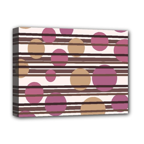 Simple Decorative Pattern Deluxe Canvas 16  X 12   by Valentinaart