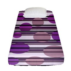 Purple Simple Pattern Fitted Sheet (single Size) by Valentinaart