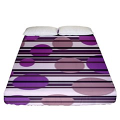 Purple Simple Pattern Fitted Sheet (king Size) by Valentinaart
