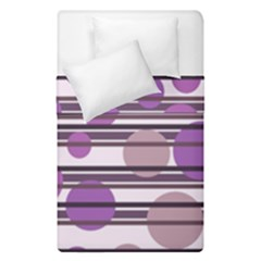 Purple Simple Pattern Duvet Cover Double Side (single Size) by Valentinaart