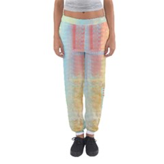 Unique Abstract In Green, Blue, Orange, Gold Women s Jogger Sweatpants by theunrulyartist
