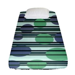 Green Simple Pattern Fitted Sheet (single Size) by Valentinaart