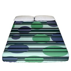 Green Simple Pattern Fitted Sheet (king Size) by Valentinaart