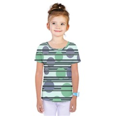 Green simple pattern Kids  One Piece Tee by Valentinaart
