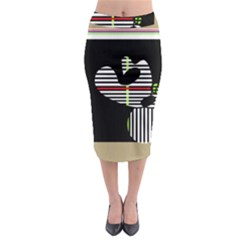 Abstract Art Midi Pencil Skirt by Valentinaart