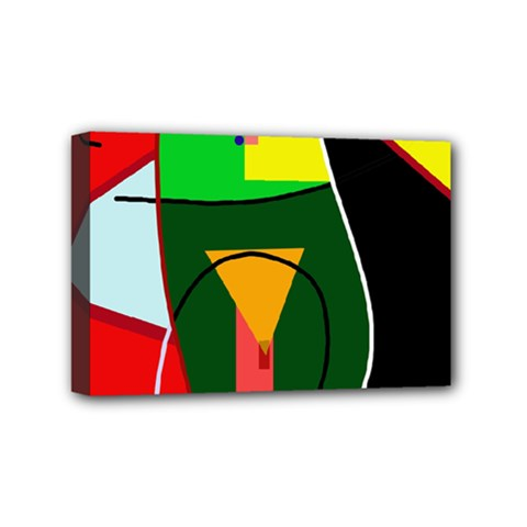 Abstract Lady Mini Canvas 6  X 4  by Valentinaart