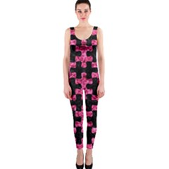 Puzzle1 Black Marble & Pink Marble Onepiece Catsuit by trendistuff