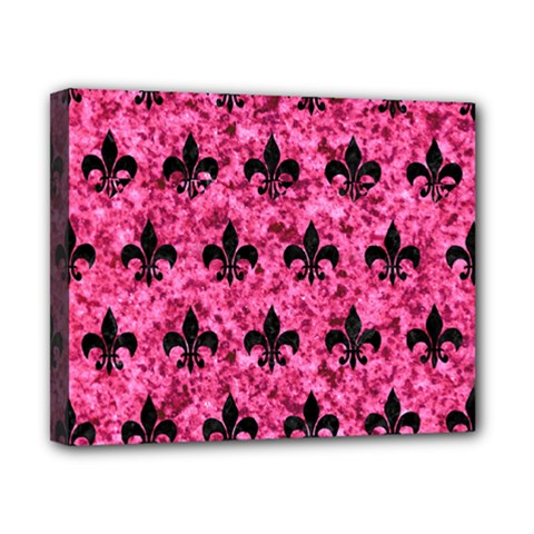 Royal1 Black Marble & Pink Marble Canvas 10  X 8  (stretched) by trendistuff