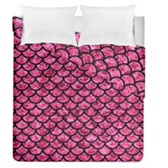 Scales1 Black Marble & Pink Marble (r) Duvet Cover Double Side (queen Size) by trendistuff