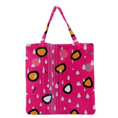 Rainy Day   Pink Grocery Tote Bag by Moma