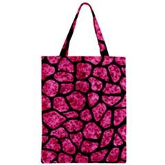 Skin1 Black Marble & Pink Marble Zipper Classic Tote Bag by trendistuff