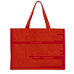Writing Grace Zipper Large Tote Bag by MRTACPANS