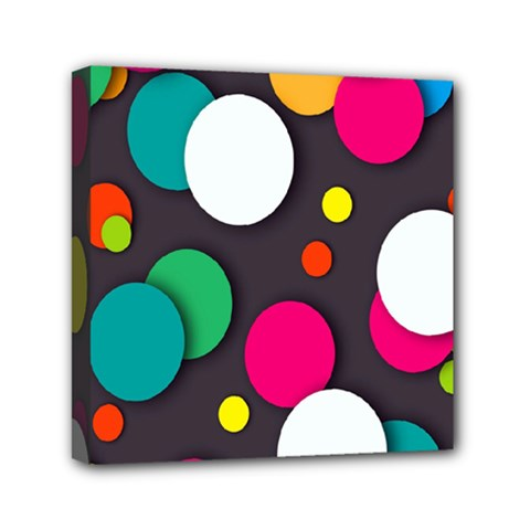 Color Balls Mini Canvas 6  X 6  by AnjaniArt