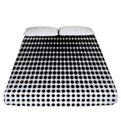 Dark Circles Halftone Black White Copy Fitted Sheet (california King Size)