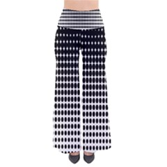 Dark Circles Halftone Black White Copy Pants by AnjaniArt