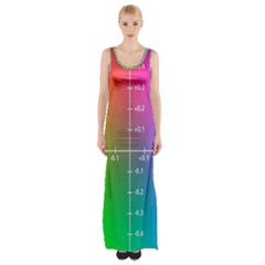 Formula Plane Rainbow Maxi Thigh Split Dress by AnjaniArt