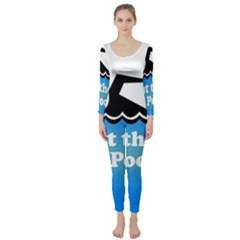 Funny Swiming Water Long Sleeve Catsuit by AnjaniArt