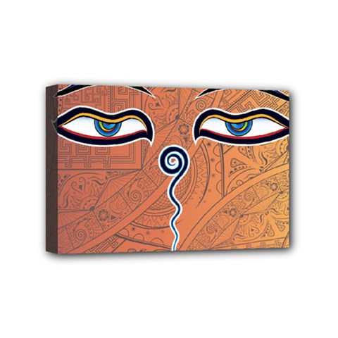 Face Eye Mini Canvas 6  X 4  by AnjaniArt