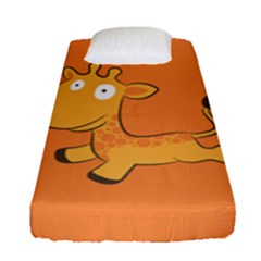 Giraffe Copy Fitted Sheet (single Size) by AnjaniArt