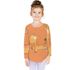 Giraffe Copy Kids  Long Sleeve Tee