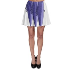 Mackerel    Purple Skater Skirt by Valentinaart