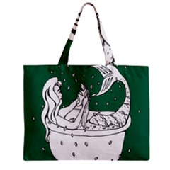 Green Mermaid Zipper Mini Tote Bag by AnjaniArt