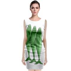 Mackerel   Green Classic Sleeveless Midi Dress by Valentinaart