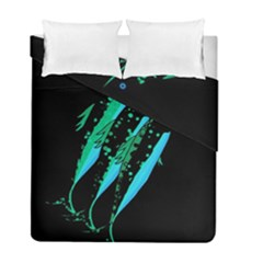 Green Fish Duvet Cover Double Side (full/ Double Size)