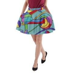 Abstract Machine A Line Pocket Skirt by Valentinaart
