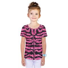 Skin2 Black Marble & Pink Marble (r) Kids  One Piece Tee by trendistuff