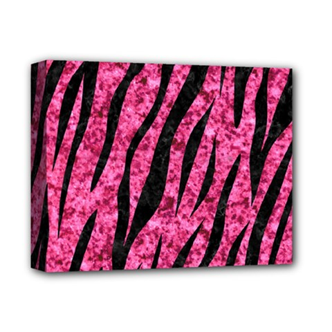Skin3 Black Marble & Pink Marble (r) Deluxe Canvas 14  X 11  (stretched) by trendistuff
