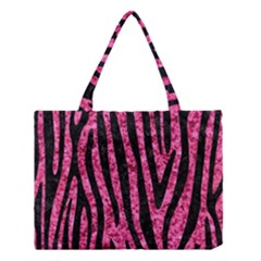 Skin4 Black Marble & Pink Marble Medium Tote Bag by trendistuff